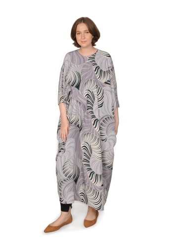 Bait Al Hijaab multi ONE-OF-A-KIND PRINTED MAXI DRESS JENNIE 3828CAA36C8D2CGS_1
