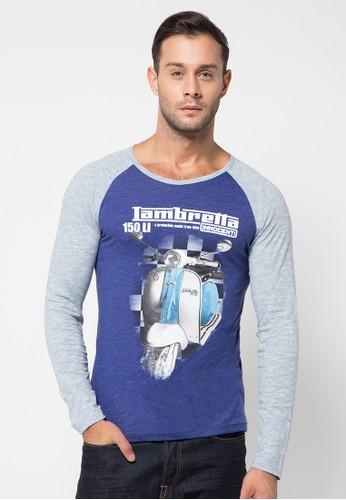 H&R Print Vespa Long Sleeve Shirt T-Shirt