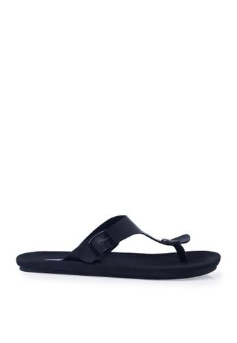 Minarno black Black Kai Strap Sandals MI641SH73ORQID_1