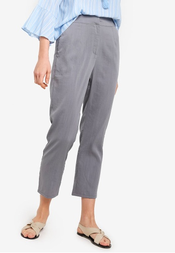 Zalia grey Tailored Pants D3552AAE34E212GS_1