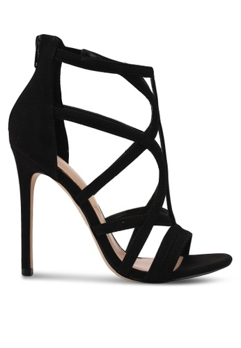 ALDO black Tifania Heeled Sandals 9966CSH42943B6GS_1