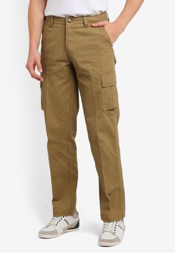 BGM POLO 米褐色 Men Cargo Long Pants BG646AA0S0L5MY_1