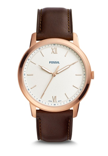 Fossil brown The Minimalist 3H Analog Watch FS5463 4718FACA318767GS_1
