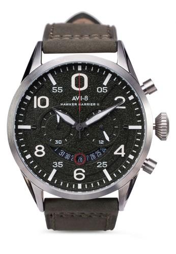 Hawker Harrier II 皮革adl esprit大圓錶, 錶類, 錶類