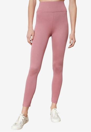 Trendyol 粉紅色 High 腰圍 針織緊身褲 969B7AAFF01914GS_1