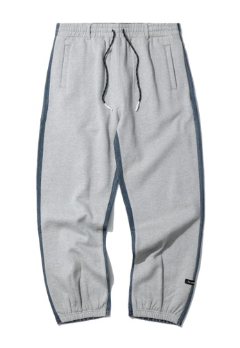 Fivecm grey Two-tone patchwork sweatpants E5EB6AA16E6ECAGS_1
