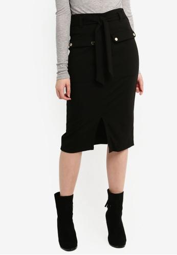 Dorothy Perkins black Black Pocket Belt Pencil Skirt 9E48CAA9CCA8BEGS_1