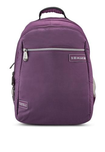 Bagstationz purple Lightweight Multi-Compartment Laptop Backpack BA607AC26CSJMY_1