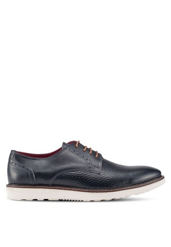 Acuto blue Leather Dress Shoes FF22BSH6495E68GS_1
