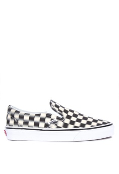 VANS multi Blur Checkered Classic Slip-On Sneakers C80B8SH31D2801GS 1 24b4b8273