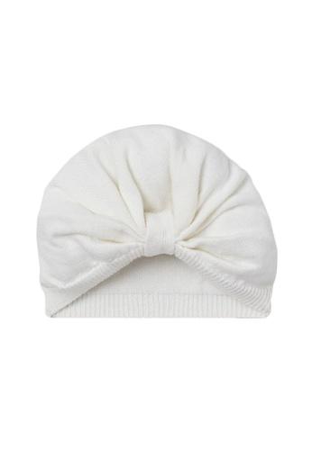 H&M white Knitted Cotton Turban 2BC5AKC53CE335GS_1