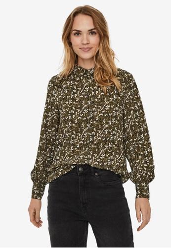 Vero Moda green Josephine Linda Shirt 9F4A0AAA05AB7AGS_1