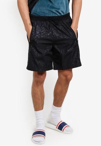 adidas black adidas originals ob short aop AD372AA46WOVMY_1
