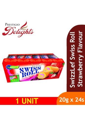 Prestigio Delights black SwizzLef Swiss Roll Cake Strawberry Flavour 20g x 24pcs 58EFCESE8647DCGS_1