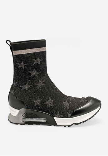 ASH black Lakes - Black Star elements High-Top Sneakers B6F26SHCEC056DGS_1