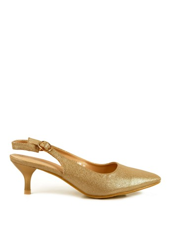 BETTINA gold Bettina Heels Quinn Gold BE073SH84QIPID_1