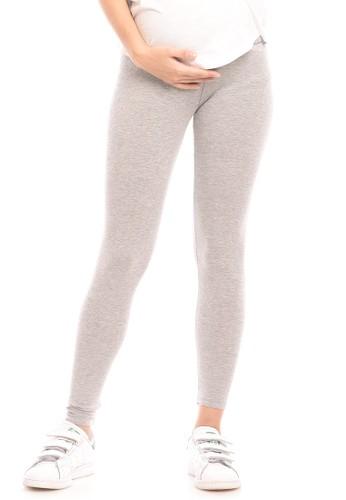Jual Mooimom Mooimom Seamless Maternity Legging Celana Legging Hamil Light Grey Original Zalora Indonesia