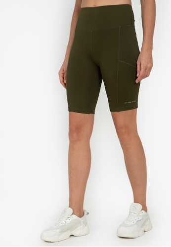 ZALORA ACTIVE green Bicycle Shorts 736E5AA023E5DBGS_1