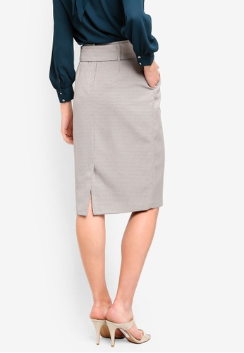 329778cb7 Buy Dorothy Perkins Mini Check Belted Pencil Skirt Online   ZALORA Malaysia
