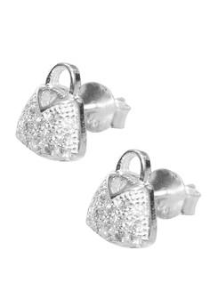 Venice Fashionable Bag Earrings (Silver)