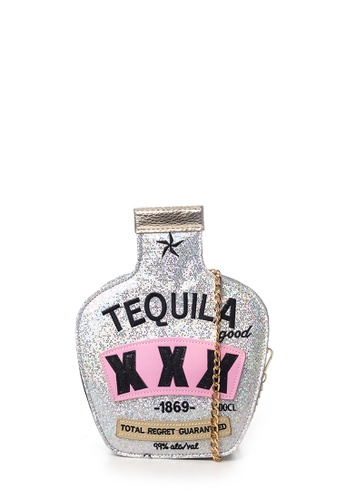 Dazz silver Tequila Crossbody Bag - Silver DA408AC34GQBMY_1