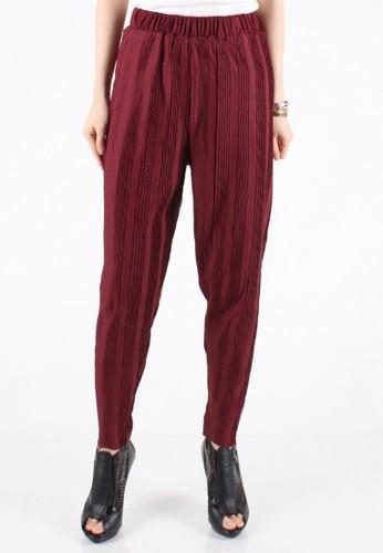 Meitavi's Plisket Threads Legging Pants - Maroon