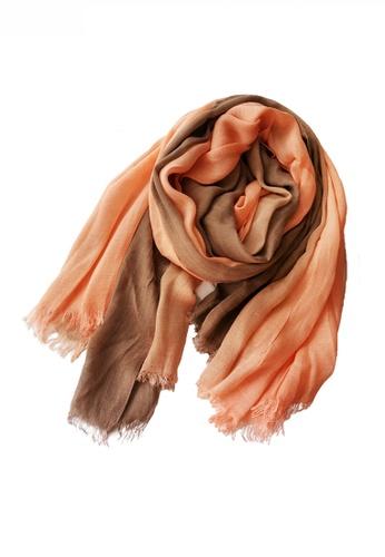 HAPPY FRIDAYS Cotton Yarn Mix Color Tie Dye Scarf JW JS-1100 042BBAC799238AGS_1