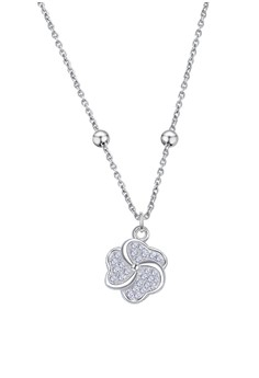 Floral Stone Center Chain Necklace