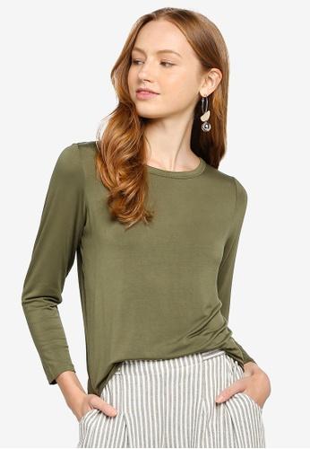 Cotton On green Kathleen Long Sleeve Top BC734AA07580E2GS_1