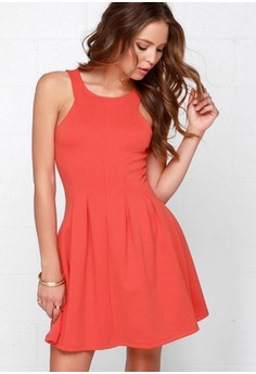 Others Follow Petula Coral Red Dress