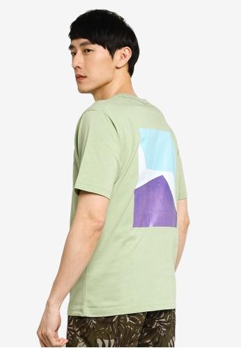 GLOBAL WORK green Graphic T-Shirt A1EF2AA7E88FA4GS_1