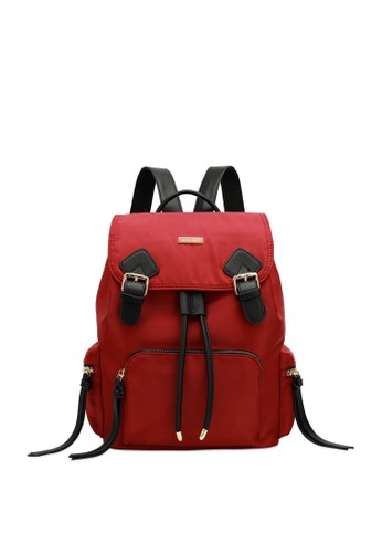 Swiss Polo red Top Flap Backpack 46AAEAC7F7AFC8GS_1