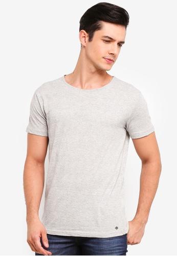 !Solid 灰色 Rekker Acid 水洗T-襯衫 53A74AA97A990FGS_1