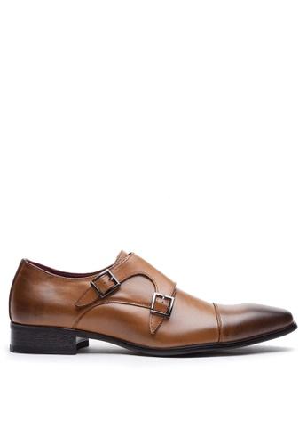 Twenty Eight Shoes brown Leather Monk Strap Shoes MC3004-3 65179SH74BCC52GS_1