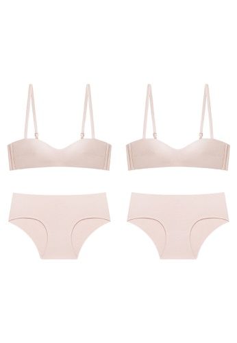K.Excellence pink Premium Comforn Pink & pink Lingerie Set (Bra and Underwear) CFEAFUS11D3FF3GS_1
