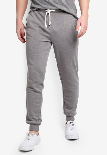 OVS grey Jogger Pants With Cuff B800DAA5FAD4CCGS_1