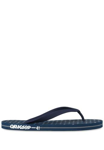 OR-K689 navy Sandal Rubber Corpos - Navy/strip B9875SH98332D4GS_1