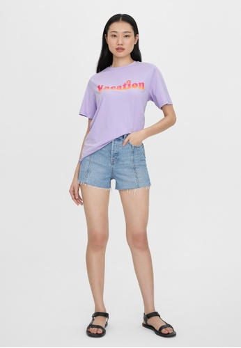 Pomelo purple Vacation Graphic Tee - Lilac DFD8EAA69CBE50GS_1