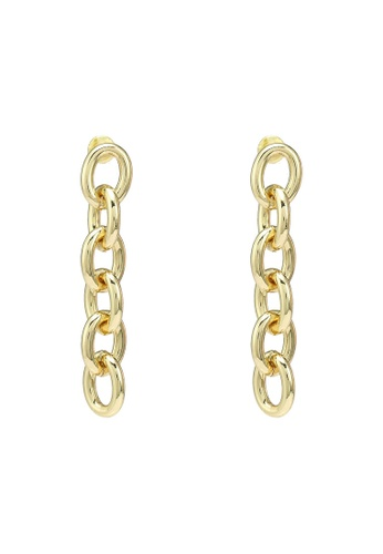 Red's Revenge gold Chica Chainlink Dangle Earrings FA35BAC5DB6456GS_1