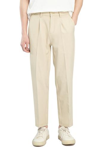 HAPPY FRIDAYS Double Fold Cropped Suit Pants AP-J2136 36943AA67A1593GS_1