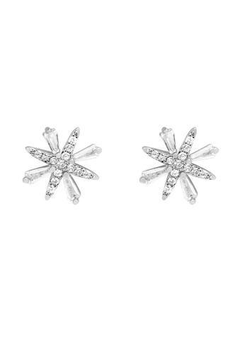 SKEDA silver Celestia Ear Studs FA005AC2983F64GS_1