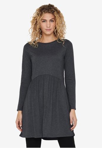 JACQUELINE DE YONG grey Gabriella Long Sleeve Dress D1145AA233CF88GS_1