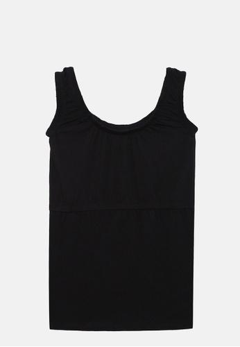 ZALZA black Orchid 100% Organic Cotton Knitted Girls Sleeveless Top - Black 06A1FKA9FCF09BGS_1