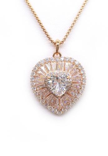 Her Jewellery gold Agathe Love Pendant (Rose Gold) HE210AC0FM1SSG_1