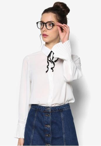 蝴蝶結長袖上衣, 韓系時尚, 梳esprit 見工妝
