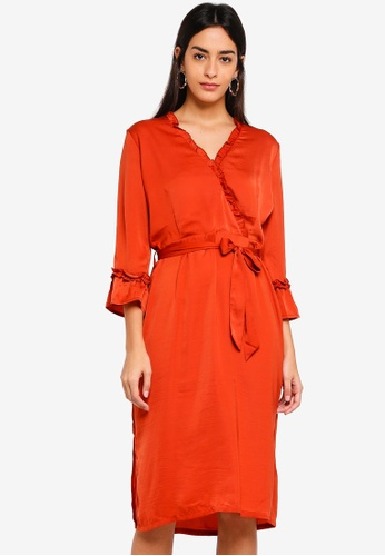 Modstrom orange Jonathan Dress 03A27AABEA662BGS_1