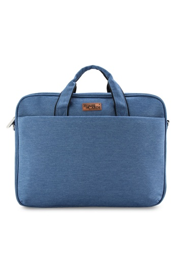 Bagstationz blue BAGSTATIONZ Stylish 2-Way 15.6inch Laptop Bag BA607AC17JXIMY_1