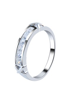 Xbose 6 Channel Set Crystal Stone Couple ring