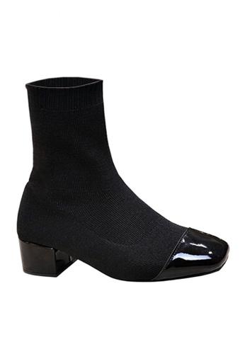 Twenty Eight Shoes black Socking Mid Boots VB918 A31E5SH35E2870GS_1