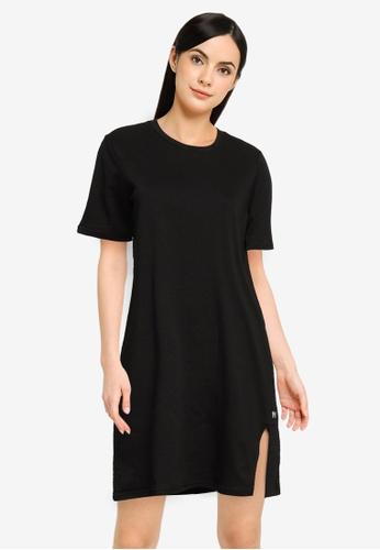 UniqTee black Smooth Cotton French Terry Tee Dress 2E828AA5DE5E73GS_1